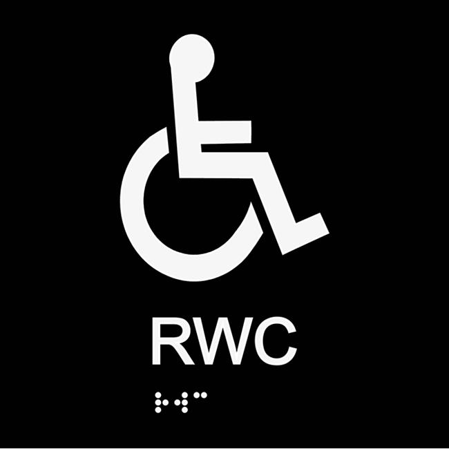 Informationsskylt RWC blindskrift