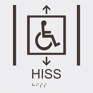 Informationsskylt hiss handikappsanpassad vit