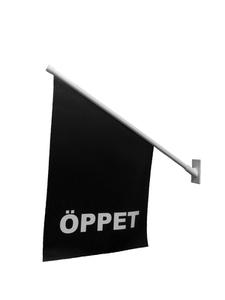 ÖPPET-flagga billig fasadflagga