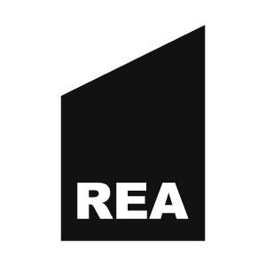 Flagga med texten REA
