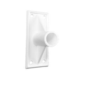 rakt väggfäste fasadflagga vit