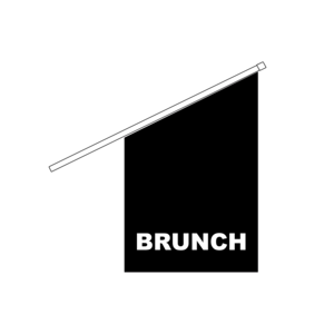 Fasadflagga BRUNCH