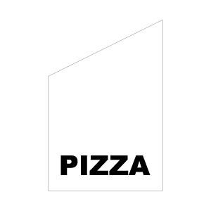 fasadflagga med texten pizza