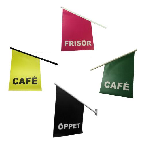 Öppetflagga kioskflagga till butiksfasad billigast