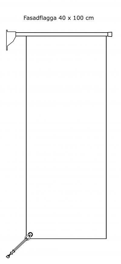 Rektangulär fasadflagga 40 x 100 cm