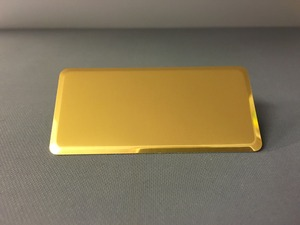 Namnbricka rektangulär blank guld