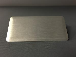 Namnbricka rektangulär borstad silver
