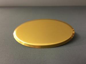 Namnbricka oval blank guld