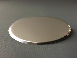 Namnbricka oval blank silver