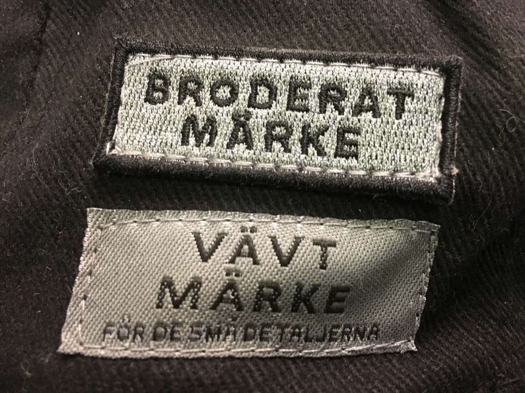 Broderade märken med eget tryck