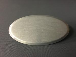 Namnbricka borstad silver aluminium ovalb namnskylt
