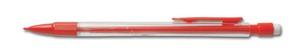 Transparant röd blyertspenna med eget tryck