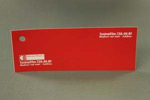 TuningFilm 758-00 BF Medium red matt - Sublime