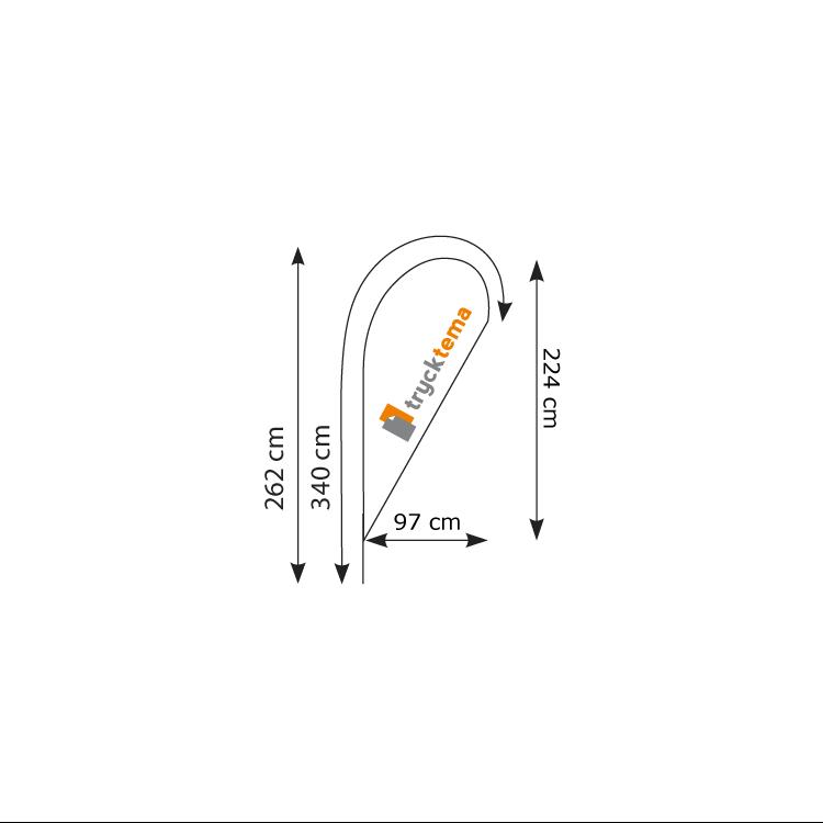 Beachflagga-droppe-vanlig