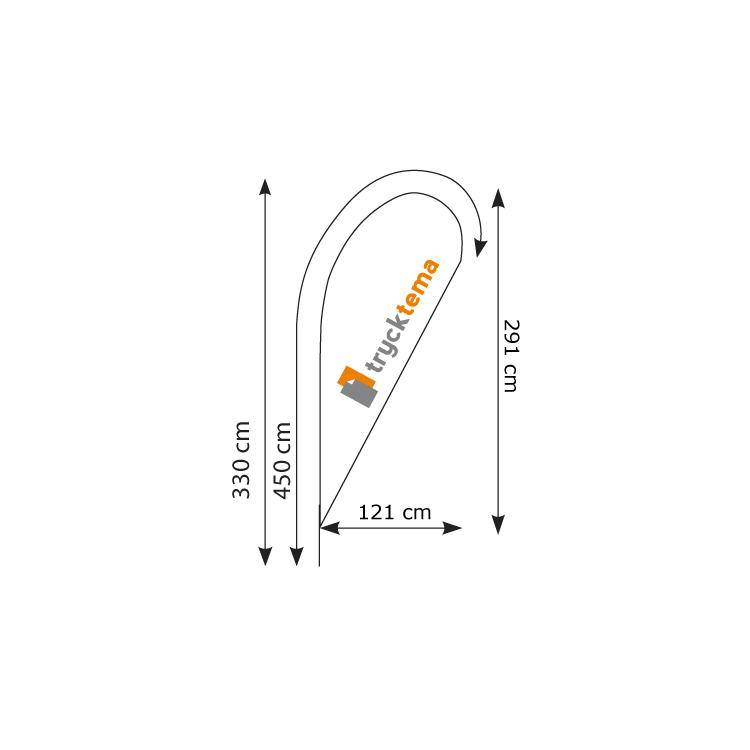 Beachflagga-droppe-stor