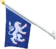 Tygflagga fasad